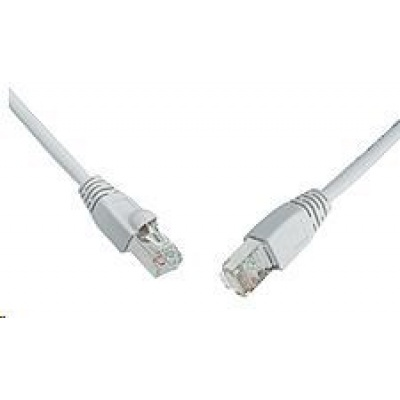 Solarix Patch kabel CAT5E SFTP PVC 15m šedý snag-proof C5E-315GY-15MB