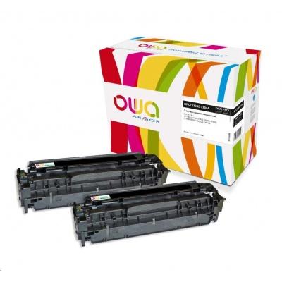 OWA Armor toner pro HP Color LJ CP2020, CP2025, CM2320, CM2720, 2x3500 stran, CC530AD, černá/black
