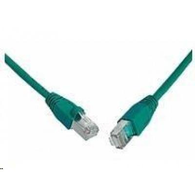 Solarix Patch kabel CAT5E SFTP PVC 0,5m zelený snag-proof C5E-315GR-0,5MB