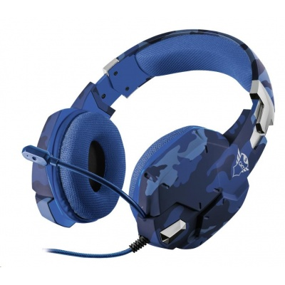 Trust sluchátka s mikrofonem GXT 322B Carus Gaming Headset pro PS4 a PS5 - camo blue