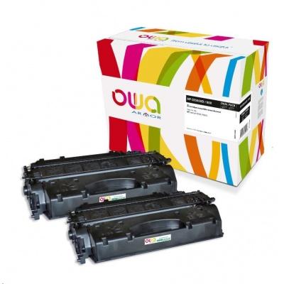 OWA Armor toner pre HP LJ P2050, P2055, 2x6500 strán, CC505XD, čierna/black