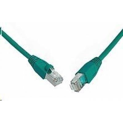 Solarix Patch kabel CAT5E SFTP PVC 10m zelený snag-proof C5E-315GR-10MB