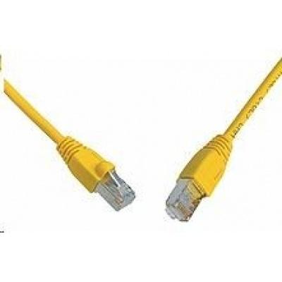 Solarix Patch kabel CAT5E SFTP PVC 15m žlutý snag-proof C5E-315YE-15MB