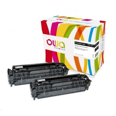 OWA Armor toner pre HP Color LJ CP2020, CP2025, CM2320, CM2720, 2x3500 strán, CC530AD, čierna/black