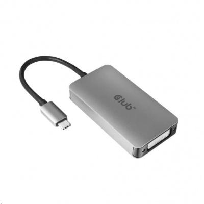 Club3D Adaptér aktivní USB Type C na DVI-I Dual Link, HDCP on